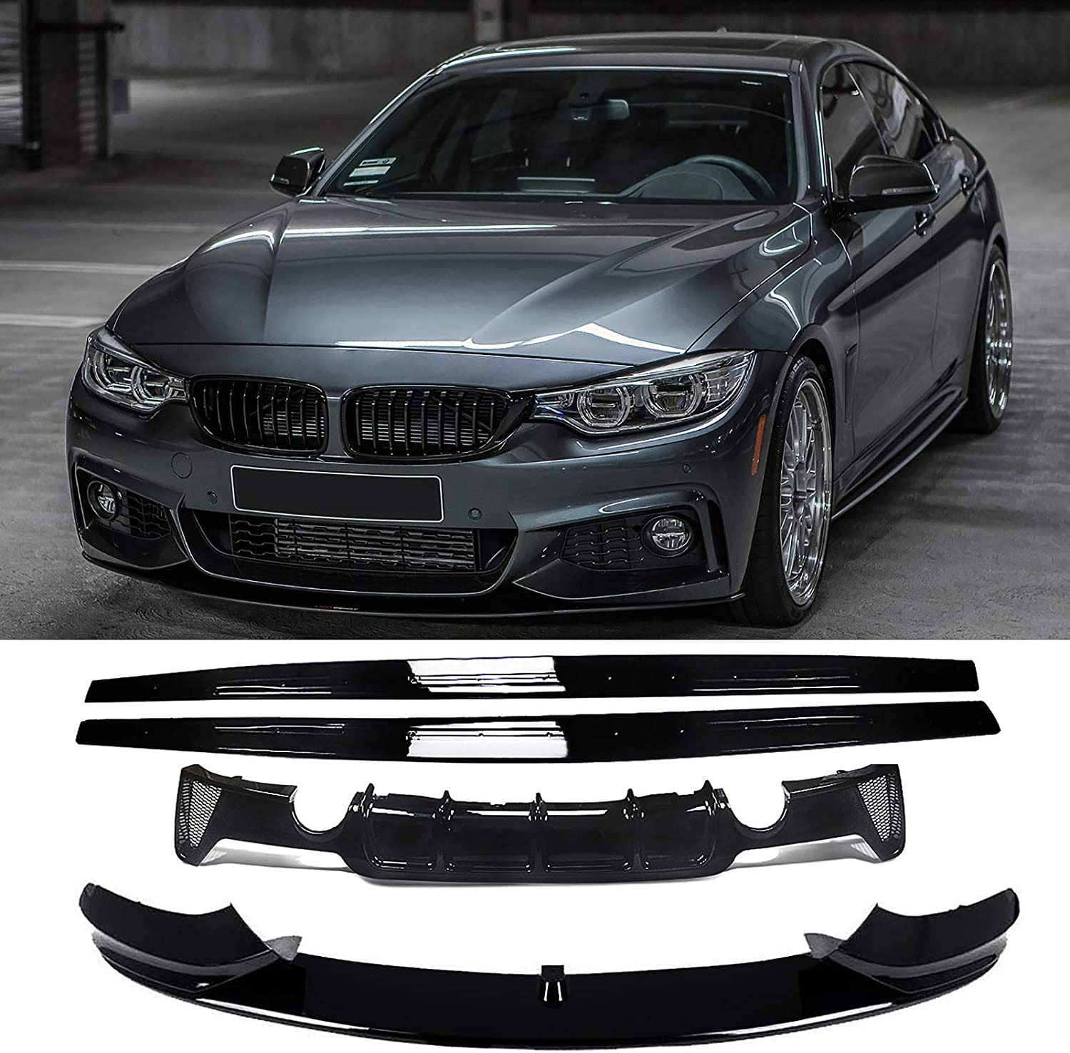 NINTE for 選択 2014-2020 BMW 4 Series F32 Rear Lip Front D F33 F36 国内正規総代理店アイテム