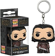 Funko Jon Snow Pocket POP! x Game of Thrones Mini-Figural Keychain + 1 Free Official Game of Thrones Trading Card Bundle (14690)