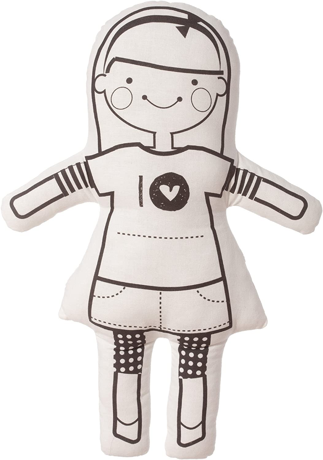 North American Bear Sophie and Lili color Me Doll