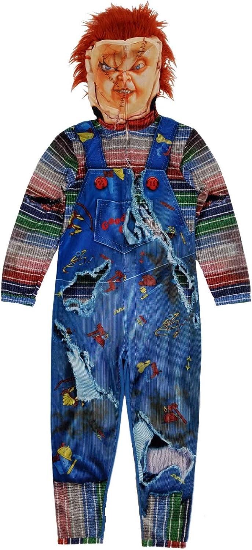 Chucky スピード対応 全国送料無料 Childs Play 正規販売店 Mens Full Union Zip Suit Costume Pajamas