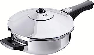 KUHN RIKON, Olla a presión tartera super rápida con mango DUROMATIC Inox, 2.5 Litros, 24 cm
