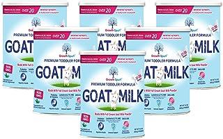 Goat Milk Toddler Formula – Growth Spurt Powdered Goat's Milk Toddler Formula – Lactoferrin, 2'-FL HMO, Prebiotics, Probiotics, Iron, DHA & ARA, Immune Support, Non GMO Infant Transition (6 Pack)