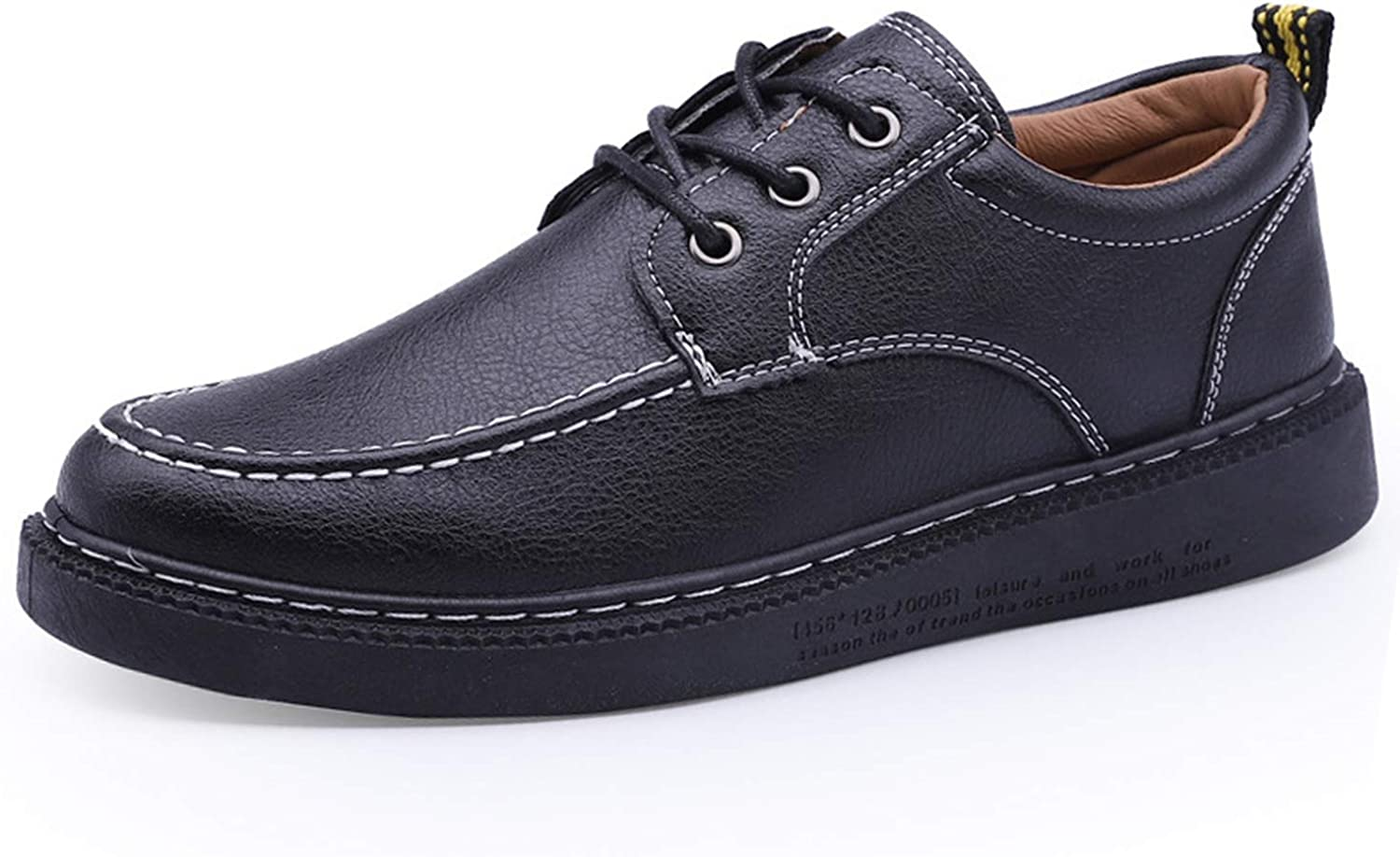colorful Dream- Mens shoes Thick Sole Solid Design Lace Up Luxury Casual shoes for Men Black Fashions Classic British Tooling Men shoes
