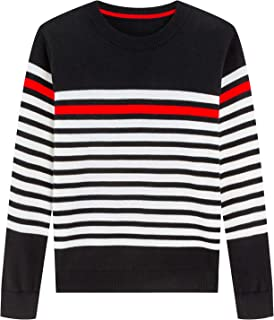 Adory Sweety Sweater for Kids Baby Boy Toddler Soft &Cute Crew Neck Stripe Long Sleeve Pullover