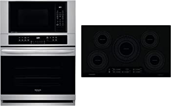 """Frigidaire 2 Piece Kitchen Appliances Package with FGMC3066UF 30"""" Electric Double.."""