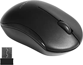 Macally 2.4G Wireless Mouse with 3 Button, Smooth Scroll Wheel, Dongle Receiver, Compatible with Desktop Computer Windows PC, Apple MacBook Pro/Air, iMac, Mac Mini, Laptops (Black)