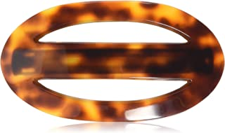 Caravan Large Open Oval Shape Tortoise Shell for Thick Hair Barrette, 0.5 Ounce