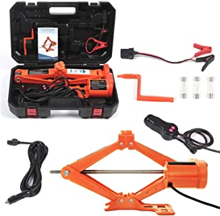 Electric Car Floor Jack 5 Ton All-in-one Automatic 12V Scissor Lift Jack Set for SUV w/Remote Tire Change Repair Emergency...