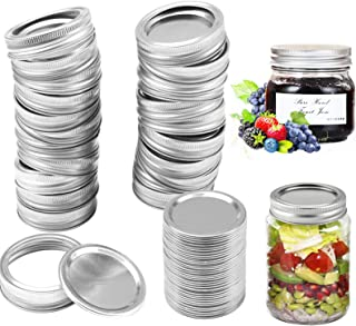 26 Set 86MM Canning Lids and Bands, Wide Mouth Mason Jar Lids and Bands for Mason Jar, Split-Type Lids Leak Proof and Secu...