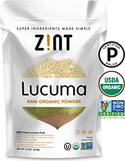 Raw Lucuma Powder by Zint: Organic, Non GMO, Lucuma Fruit Superfood - Fiber, Calcium Vitamin B1, B2, C - Sweet Creamy Flavor for Amazing Smoothies (16 oz)