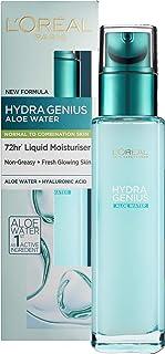 L'Oreal Paris Hydra Genius hyaluronsyra + aloe flytande fuktgivande fuktighetskräm för normal kombination av hud, rehydrer...