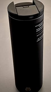2019 Starbucks Matte Black Double Walled Vacuum Insulated Stainless Steel Tumbler, 16 Fl Oz