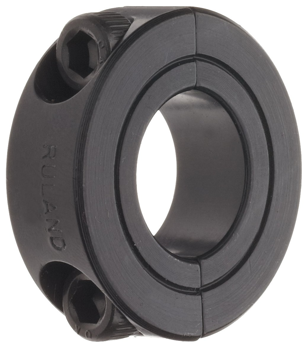 Ruland SP-63-F Two-Piece Clamping Shaft Stee Oxide Collar Kansas City Spring new work one after another Mall Black