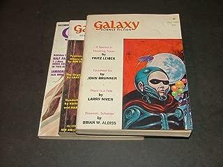 3 Iss Galaxy July, 1968 Jan Dec, 1969 Aldiss, Larry Niven,Fritz Leiber,Brunner