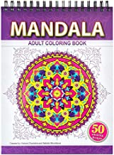 Mandala Coloring Book for Adults on Thick Artist Paper with a Spiral Binding on the Top in Hardback