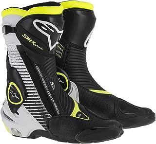 Alpinestars Mens SMX Plus Vented Boot (Black/White/Yellow, EU 46)