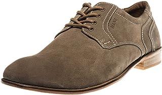 Manz Zapatos de Cordones de Piel para Hombre Gris Gris