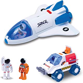 Astro Venture Space Playset - Toy Space Shuttle & Space Rover with Lights and Sound & 2 Astronaut Figurine Toys for Boys a...