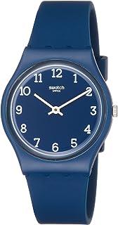 Swatch Originals Blueway Blue Dial Silicone Strap Unisex Watch GN252