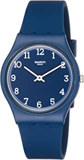 Swatch Originals Blueway Blue Dial Silicone Strap Unisex Watch GN252