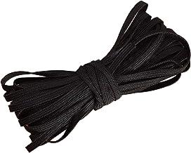 5 mm plat elastisch koord, voor naaimasker elastische band, zwart elastisch koord, DIY zacht gevlochten naaien elastische ...