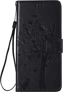 LOKTU23844 Brown M320G Lomogo Leather Wallet Case with Kickstand Card Holder Shockproof Flip Case Cover for LG X Charge X Power2 Case M320G LG X Charge