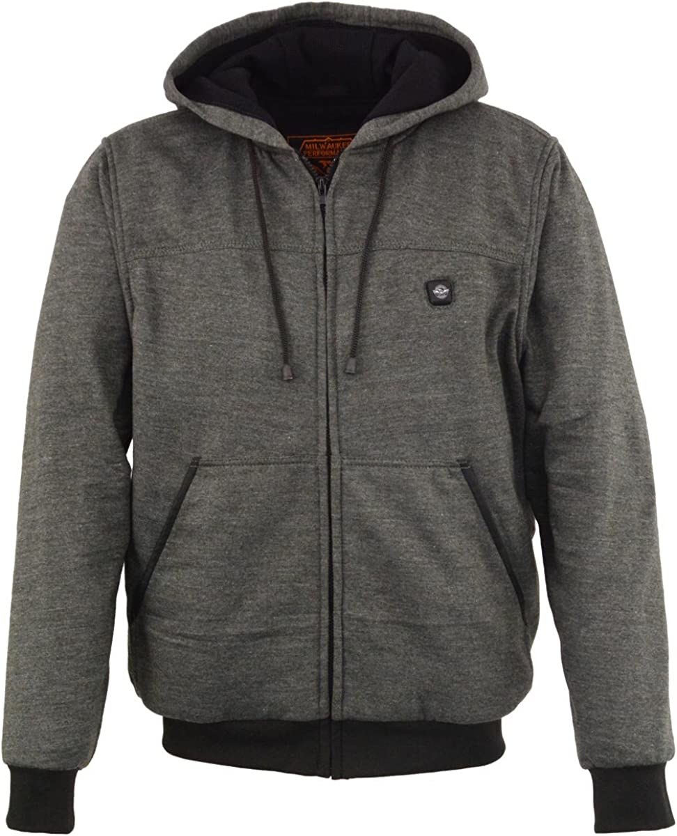 Milwaukee Performance Mens Zipper Front Heated Hoodie w/Rechargeble Battery Pack Included