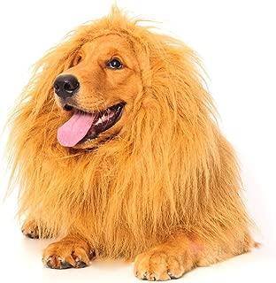 Dogloveit Lion Mane for Dog, Dog Costume with Gift [Lion Tail] Lion Wig for Dog