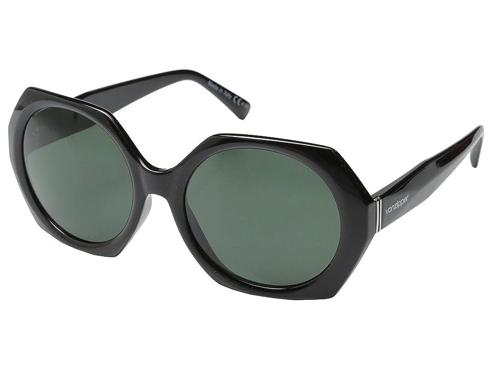 VonZipper Buelah (Black Gloss/Vintage Grey) Sport Sunglasses