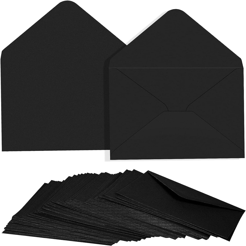 100PCS C6 Ranking TOP12 Black Paper Envelope Triangle Seal Style Simple Retro Nashville-Davidson Mall