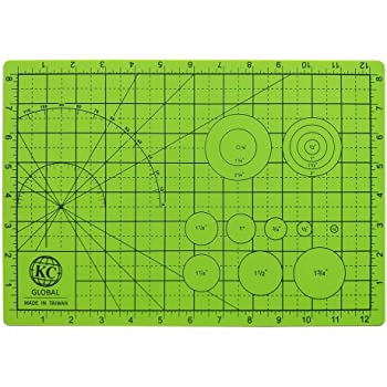 Crafting Eco-Friendly Double-Side Neon Green Premium desk mat for DIY Model Building and Art Project 19 x 13 in. - Odor-Free KC GLOBAL A3 Professional Grade Self-Healing Cutting Mat Non-Slip