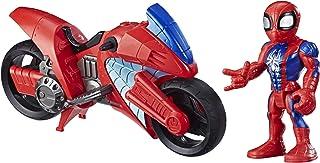 Hasbro E7929ES0 Playskool Heroes Marvel Super Hero Adventures Spider-Man Swingin' Speeder, 12,5 cm figuur en motorfiets, s...