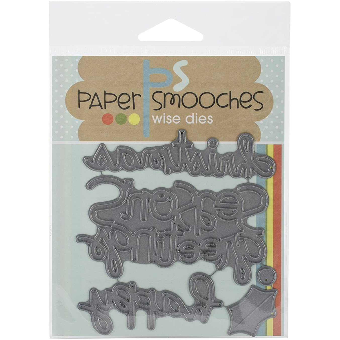 Paper Smooches Christmas Words-2 Die