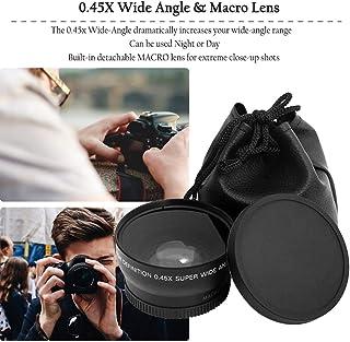 Kongqiabona-UK Lente Macro Gran Angular Profesional de 52 mm 0.45 x para Nikon D3200 D3100 D5200 D5100 Super Gran Angular Negro
