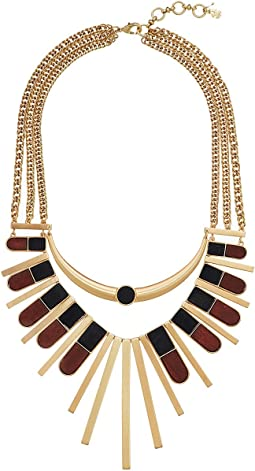 Lucky Brand Wood Statement Necklace