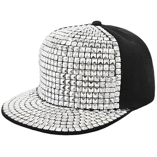 bc4ed3544b3 La moriposa Unisex Kid Shiny Sequin Reflective Baseball Snapback Cap  Hip-Hop Hat