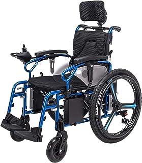 Sillas de ruedas eléctricas para adultos Silla de ruedas ligera eléctrica plegable for un adulto discapacitado 360 ° Asiento Inteligente Joystick Ancho 46cm ancianos 4 Ruedas Durable silla de ruedas m