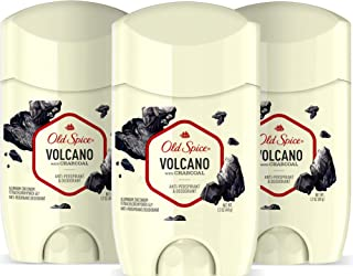 Old Spice Antiperspirant & Deodorant for Men, Invisible Solid, Volcano With Charcoal Scent, Inspired by Natural Elements, 1.7 Oz (Pack Of 3)