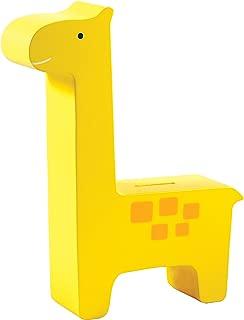 Pearhead Wooden Giraffe Piggy Bank, Yellow