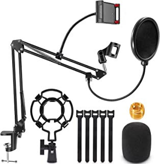 Microphone Stand, Magicfun Mic Boom Arm Desk Adjustable...