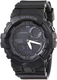 ساعة جي شوك بمينا اسود وسوار من الراتنج للرجال من كاسيو -  GBA-800-1AER