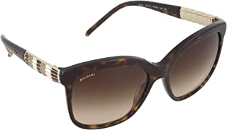 Bvlgari BV8155 Women's Serpenti Sunglasses, Dark Tortoise Frame, Brown Gradient 57mm Lenses