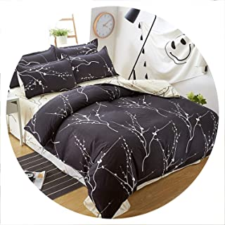 Secret-shop Birthday Present Duvet Cover Flat Bed Sheet Linen Pillowcase Bedding Sets Full King Twin Queen Size 3/ 4pcs,F12,Queen cover180by220