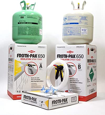 Dow Froth Pak 650, Spray Foam Insulation Kit, Class A fire rated 650 sq