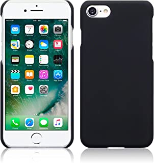 CELLBELL Rubberized Matte Hard Back Cover for iPhone 8(Black Matte)