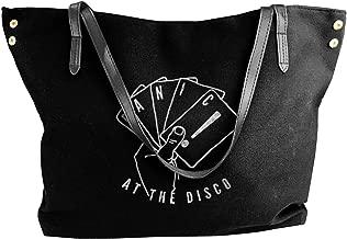 METOO SHOP Panic! At The Disco Women's Canvas Shoulder Bag Handbags Tote Bag Casual Shopping Bag