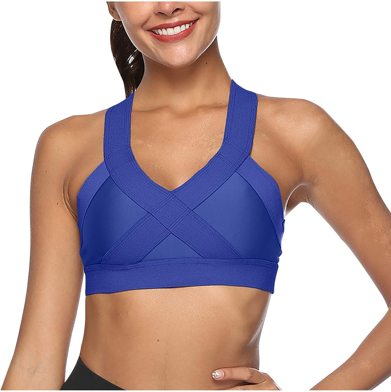 FUNEY Sports Bras for Women, Sexy Crisscross Back Seamless Comfortable Yoga Bra Workout Gym Vest Fitness Underwear