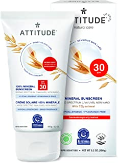 Best attitude sensitive skin 100% mineral sunscreen spf 30 Reviews