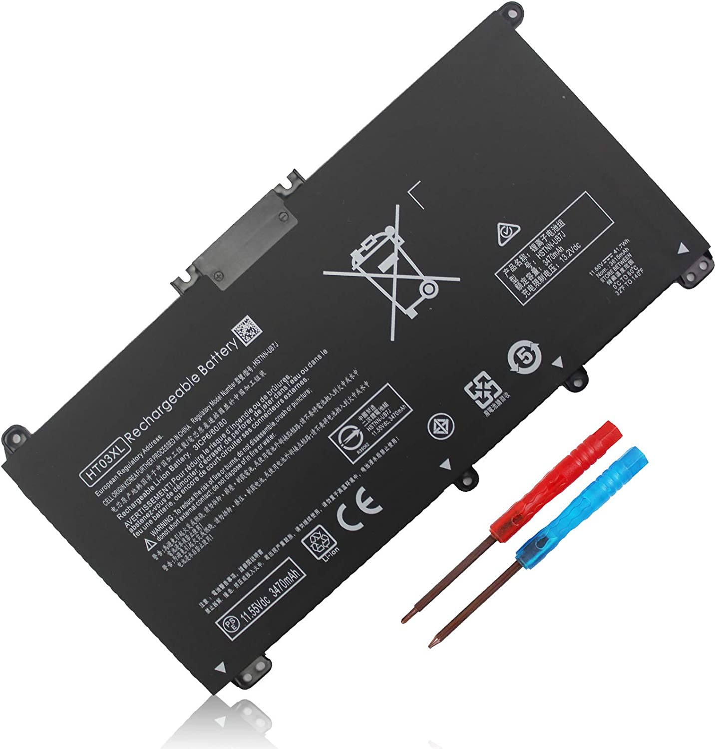 New HT03XL 35% OFF Laptop Battery for Boston Mall HP 14-CE 14-CF 14-c Pavilion 14-DF