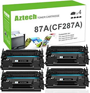 Aztech Compatible Toner Cartridge Replacement for HP 87A CF287A 87X CF287X (Black, 4-Packs)
